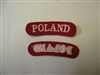 e0142p WW2 Polish Army Poland tabs pair red IR17E