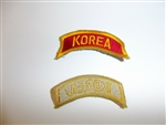 e1514 Korean War US Army tab Korea gold/yellow on red R21A3