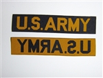 E2025 Vietnam US ARMY Tape issue type woven yellow/gold die cut IR39A