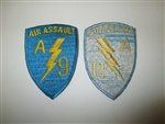 e0348 Vietnam US Army Air Assault A Company 1 Battalion 9 Infantry ltblue  IR14E