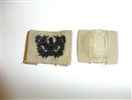 e2358 WW2 US Army Warrant Officer collar emblem Khaki single R9A