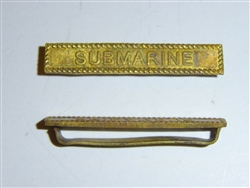 e2371 WW1 US Submarine Service bar for Victory Medal France 1918  B2D62
