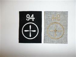 b6929 WW1 German Navy Sea Battalion Bataillone Naval Infantry Shako Plate GD22