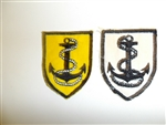 b1999 RVN Vietnam Navy Vietnamese generic shoulder patch anchor & rope IR9A