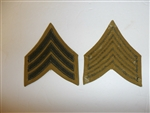 b2052s USMC Chevron 1894-1920's WW 1 Sergeant Rank summer khaki single R6E