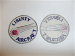 b2966 WW 2 Civilian patch Liberty Aircraft Company R12A