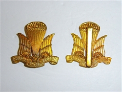 0327 WW 2 Canada Canadian Parachute Corp beret badge 1st style IR17A