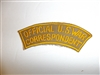 c0407 WW 2 Official U.S. War Correspondent tab US Civilian R9E