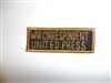 c0399  WW 2 US Civilian War Correspondent United Press tab R9E
