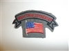c0408  WW 2 War Correspondent American Flag Gray Uniform patch US civilian R9E
