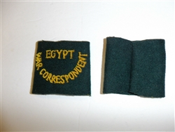 c0425p WW 2 Egypt War Correspondent Shoulder Slip On pair R9E
