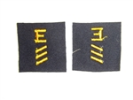 b3708 Vietnam US Navy Distinguishing Mark E Excellence Blue Yellow 3 Hash IR33D