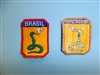 b3635 WW 2 Brazil Army Expeditionary Force Brasil 2nd model shoulder patch IR17C