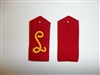 b4528p WW1 German Luft Shif Sew on Shoulder Boards red pair IR1C