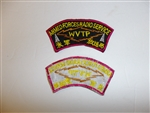 C0457 Vietnam Correspondent Patch Armed Forces Radio Service WVTP Japan red R9E