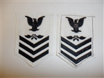 b6084 US Navy Rate Aviation Storekeeper 1st class white IR34B