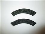 b7483 US Army Vietnam tab Earth Eaters black on OD subdued IR37A