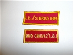 b8566 USMC US Vietnam L.B.J'S Hired Gun Novelty patch R5T