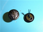 b2444p WW 1 US Army Visor hat side buttons pair B2D24