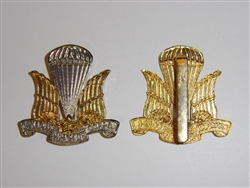 a0354 WW2 Canadian Officers Para Parachute Corps Beret Badge silver/gold IR17A