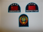 b6637 Soviet USSR Inspector Observer sleeve patches Nato visits 3 piece IR1E