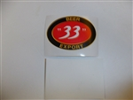 b4714 US Vietnam Novelty Sticker Beer 33 Export IR4C