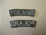e0143 WW2 Polish Army Poland tab gray IR17E