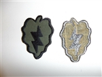 e1797 US Army Vietnam 25th Infantry Division Tropical Lightning OD patch IR14T