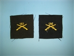 WWII US Army Officers Infantry Crossed Rifles cloth 187th elastique