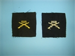 WWII US Army Officers Infantry Crossed Rifles cloth 505th elastique