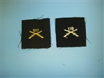 WWII US Army Officers Infantry Crossed Rifles cloth 517th elastique