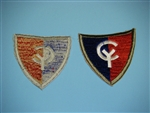 WWII  US Army 38th Infantry Division OD border