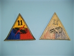 WWII US Army 11th Armored Division patch