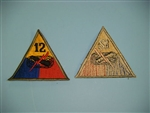 WWII US Army 12th Armored Division patch