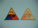 WWII US Army 15th Armored Division patch