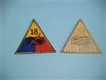 WWII US Army 18th Armored Division patch