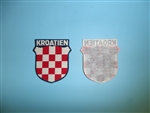 WWII Croation Kroatien Hrvatska sleeve shield german version