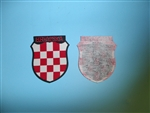 WWII Croation Kroatien Hrvatska sleeve shield german Croat version