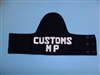 b3172 Vietnam era Armband Customs MP Military Police IR31T