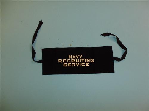 Korea US Navy Armband Recruiting Service w//strings IR33T b3186 WW2