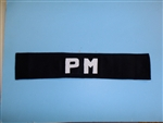 b3189 Vietnam French Indochina Police Militraire Armband PM Military IR34T