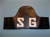 Vietnam era Armband SG Security Guard Leather