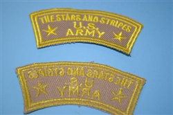 c0033 Stars and Stripes - US Army tab (Tan) R10B