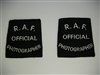 c0482 WWII Royal Air Force Official Photographer Slip on shoulder titles British R10D