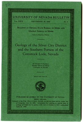 Geology of the Silver City district and the southern portion of the Comstock Lode, Nevada SOFTGOOD