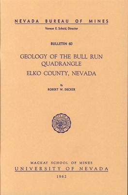 Geology of the Bull Run quadrangle, Elko County, Nevada