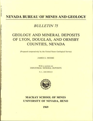Geology and mineral deposits of Lyon, Douglas, and Ormsby counties, Nevada