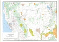 Nevada and Great Basin areas desktop map