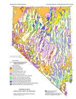 Generalized geologic map of Nevada