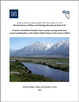 A land in transition! Ancient river courses, young volcanoes, recent earthquakes, and modern debris flows in the Carson Valley